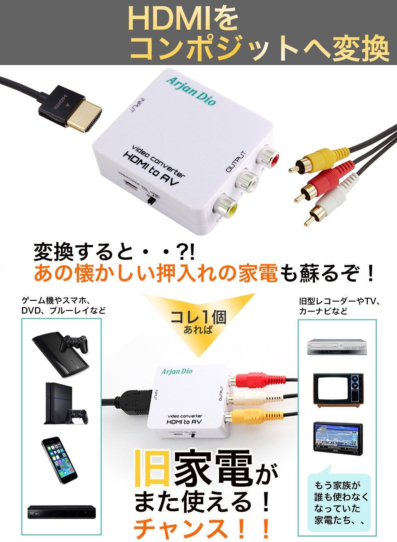 HDMI コンポジット 変換 コンバーター アナログ RCA 1080P対応 相性保証 USB ADR-523